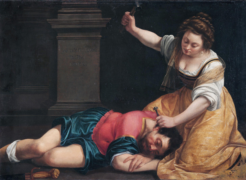 Giaele e Sisara, by Artemisia Gentileschi