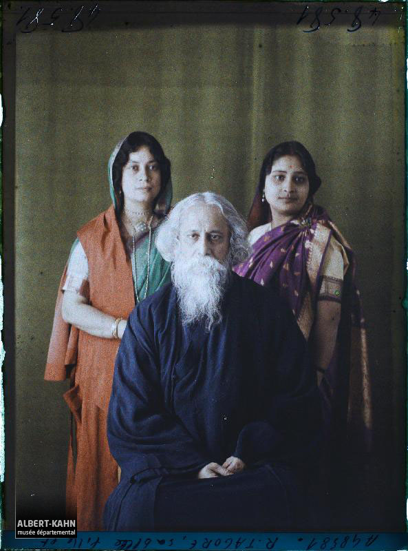 France, Boulogne, Rabindranâth Tagore - Mme Tagore - Mme ...